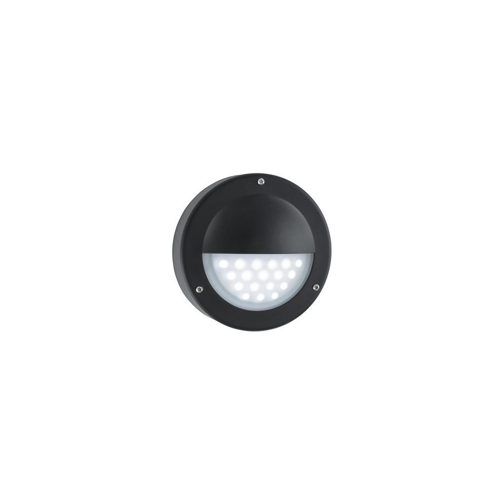 2019 Searchlight 8744Bk Led Black Outside Wall Light, Ip44 – Lighting For Round Outdoor Wall Lights (View 1 of 20)