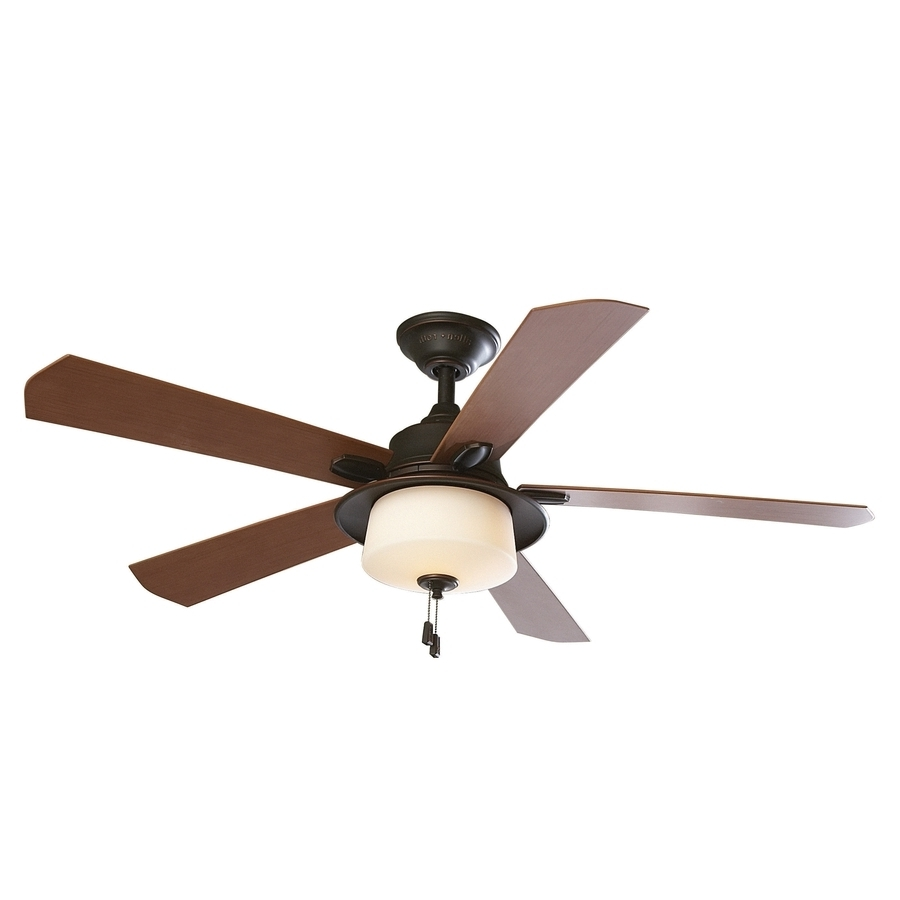 2019 Shop Allen + Roth Sawgrass 52 In Bronze Downrod Mount Indoor/outdoor For Outdoor Ceiling Fans With Light At Lowes (View 19 of 20)