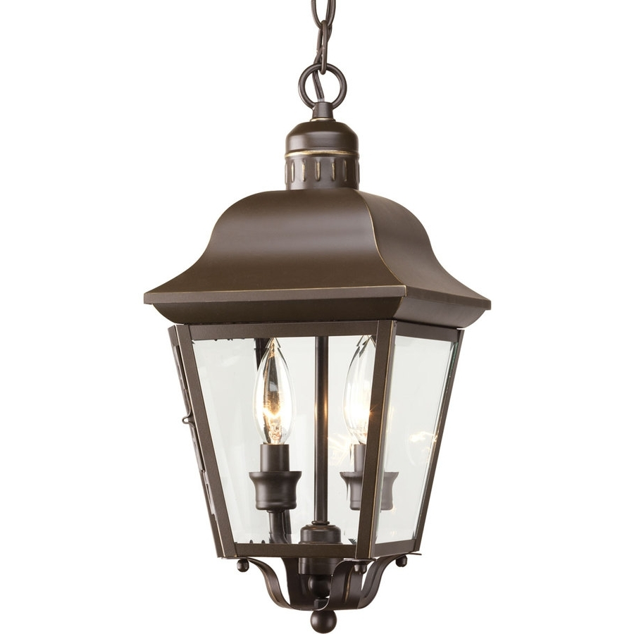 2019 Shop Progress Lighting Andover 15.87 In Antique Bronze Outdoor Intended For Outdoor Ceiling Lights At Lowes (Gallery 3 of 20)