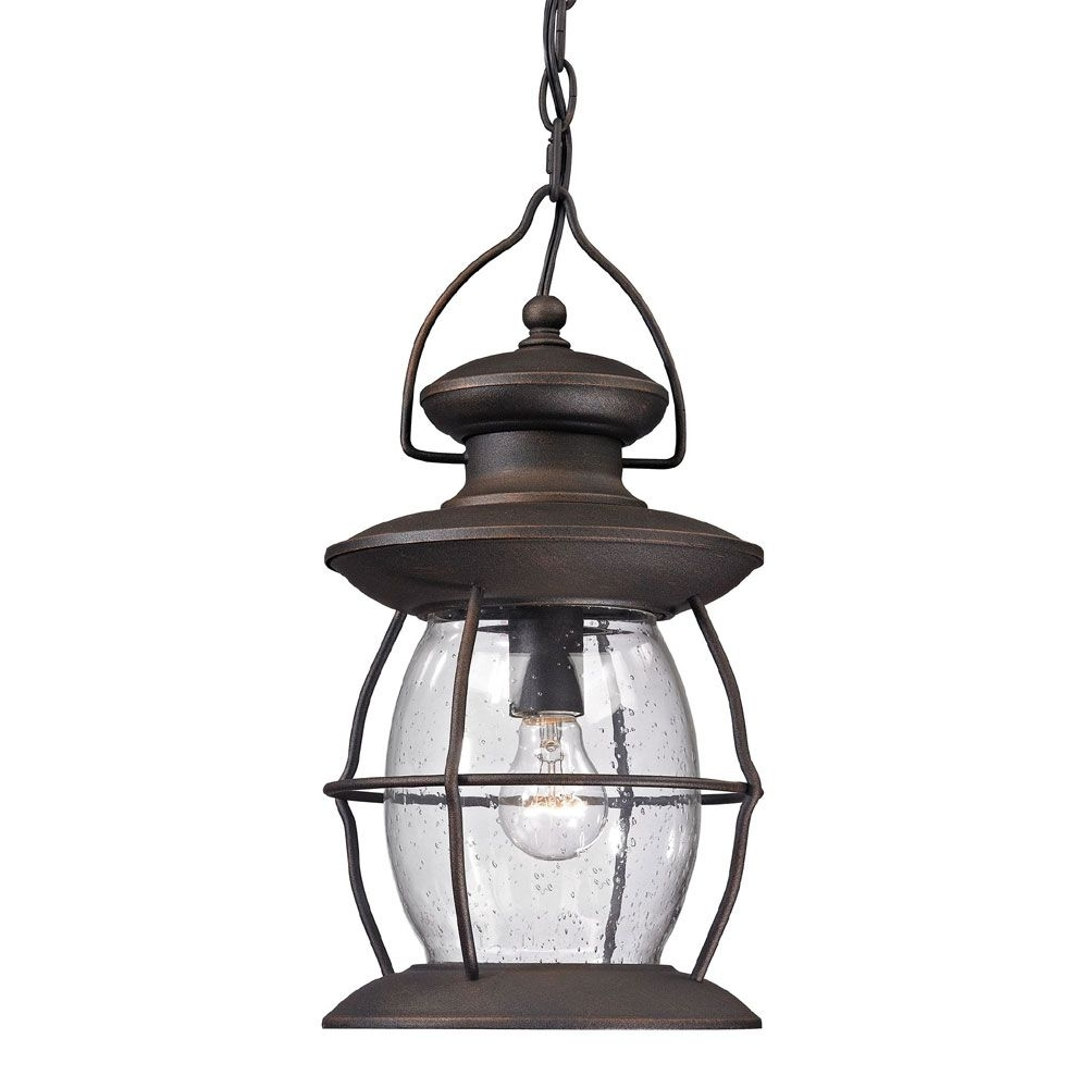 2019 Stunning Elk Village Lantern Traditional Weathered Charcoal Outdoor For Tropical Outdoor Hanging Lights (View 1 of 20)