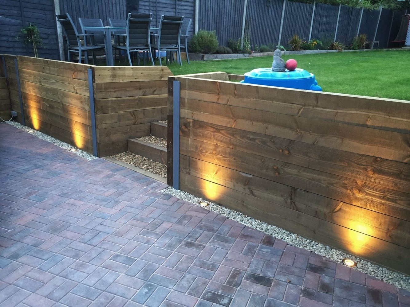 21+ Stunning Picture Collection For Paving Ideas & Driveway Ideas Within Well Known Outdoor Retaining Wall Lighting (View 3 of 20)