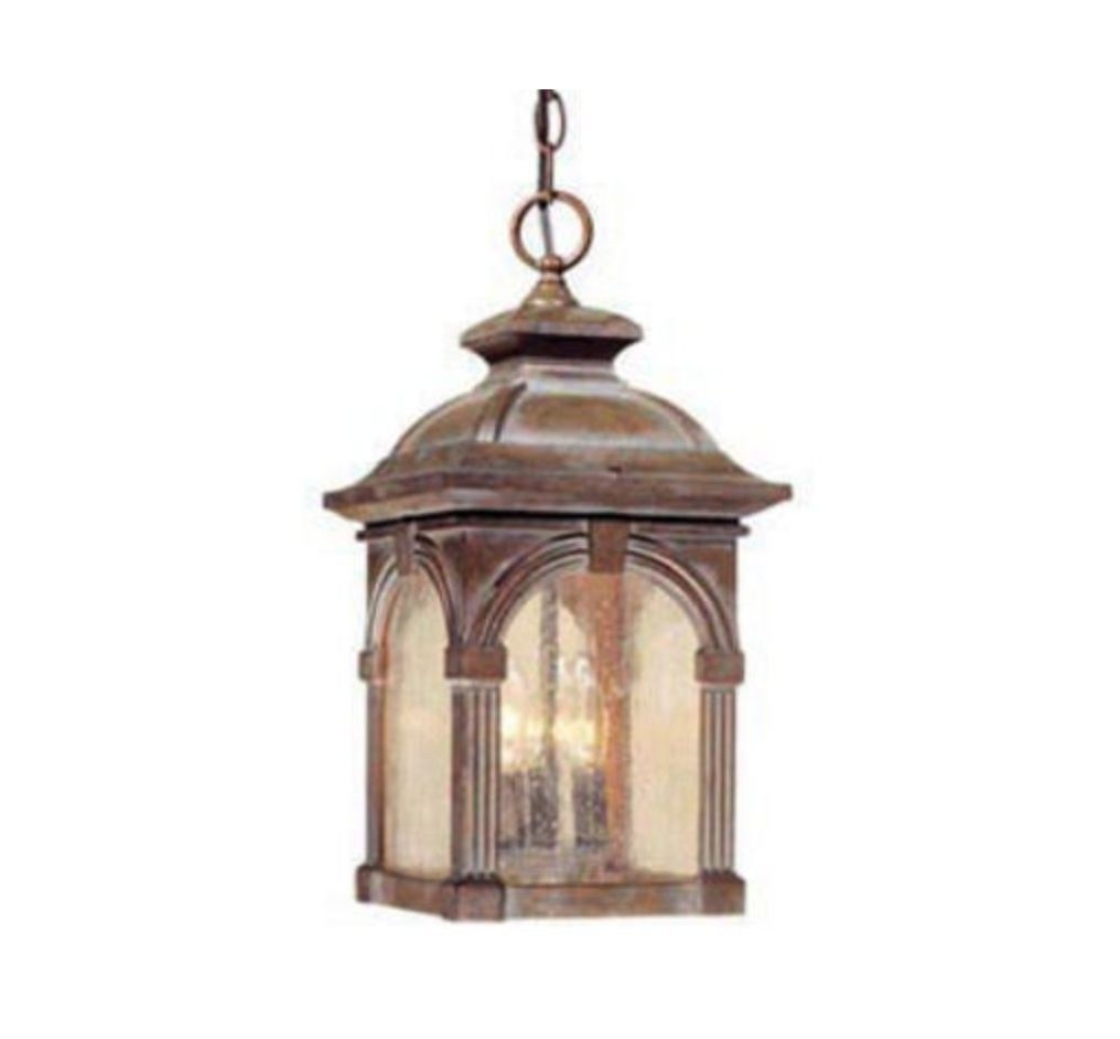 "3 Light 18"" Royal Bronze Outdoor Pendant Light Gothic Harry Potter Pertaining To Most Recent Outdoor Ceiling Pendant Lights (View 2 of 20)"