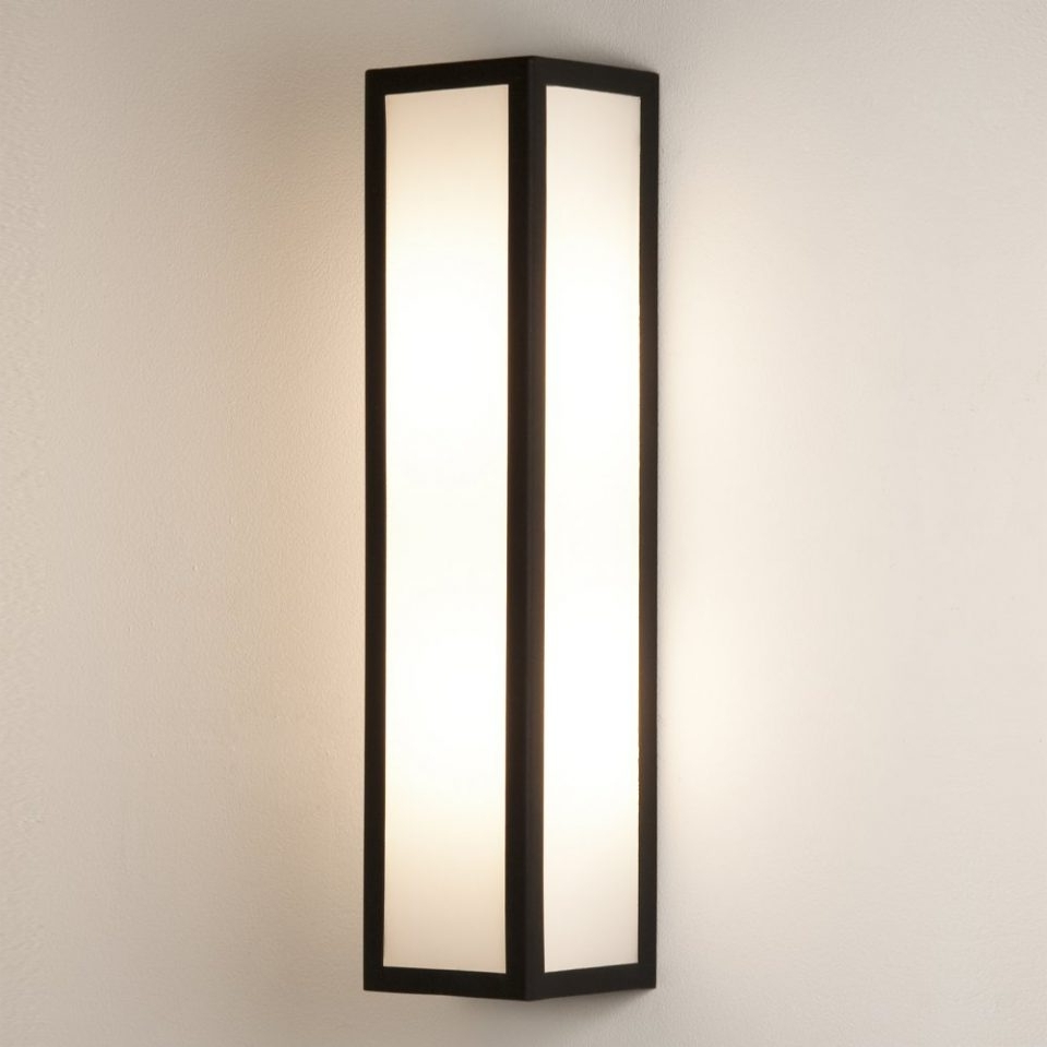 4 : Exterior Wall Lights Within Imposing Astro Lighting Salerno 0848 Within Well Liked Outdoor Wall Lights In Black (Gallery 15 of 20)