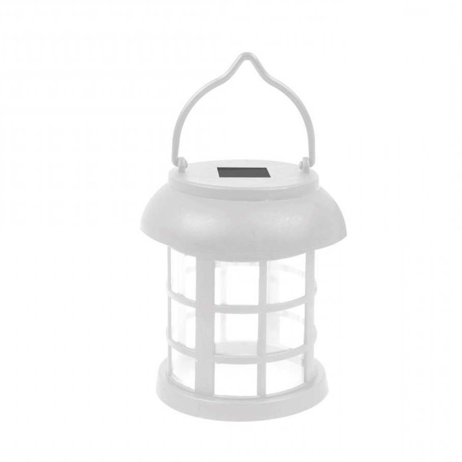 4 Solar Hanging White Lanterns Outdoor Garden Lights In Preferred Outdoor Hanging Solar Lanterns (View 20 of 20)