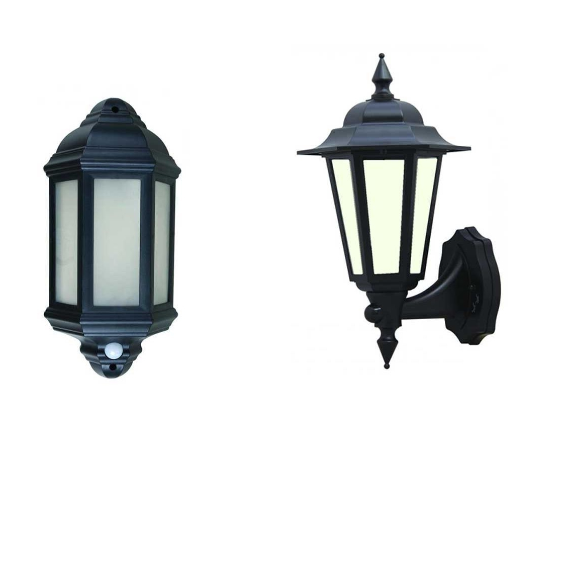 60W Traditional Black Half Lantern Outdoor Garden Wall Light With With 2018 Half Lantern Outside Wall Lights (View 1 of 20)