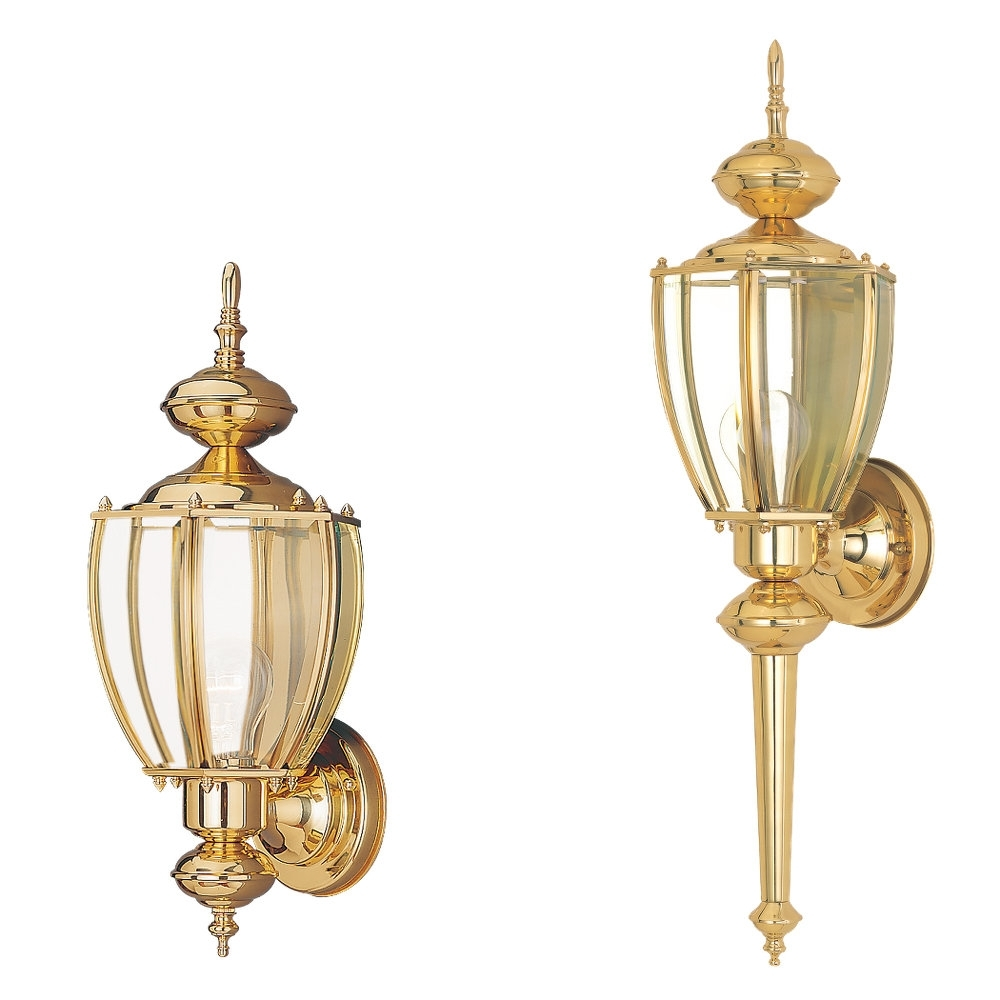 8578 02,one Light Outdoor Wall Lantern,polished Brass With Regard To Most Current Polished Brass Outdoor Wall Lighting (View 4 of 20)
