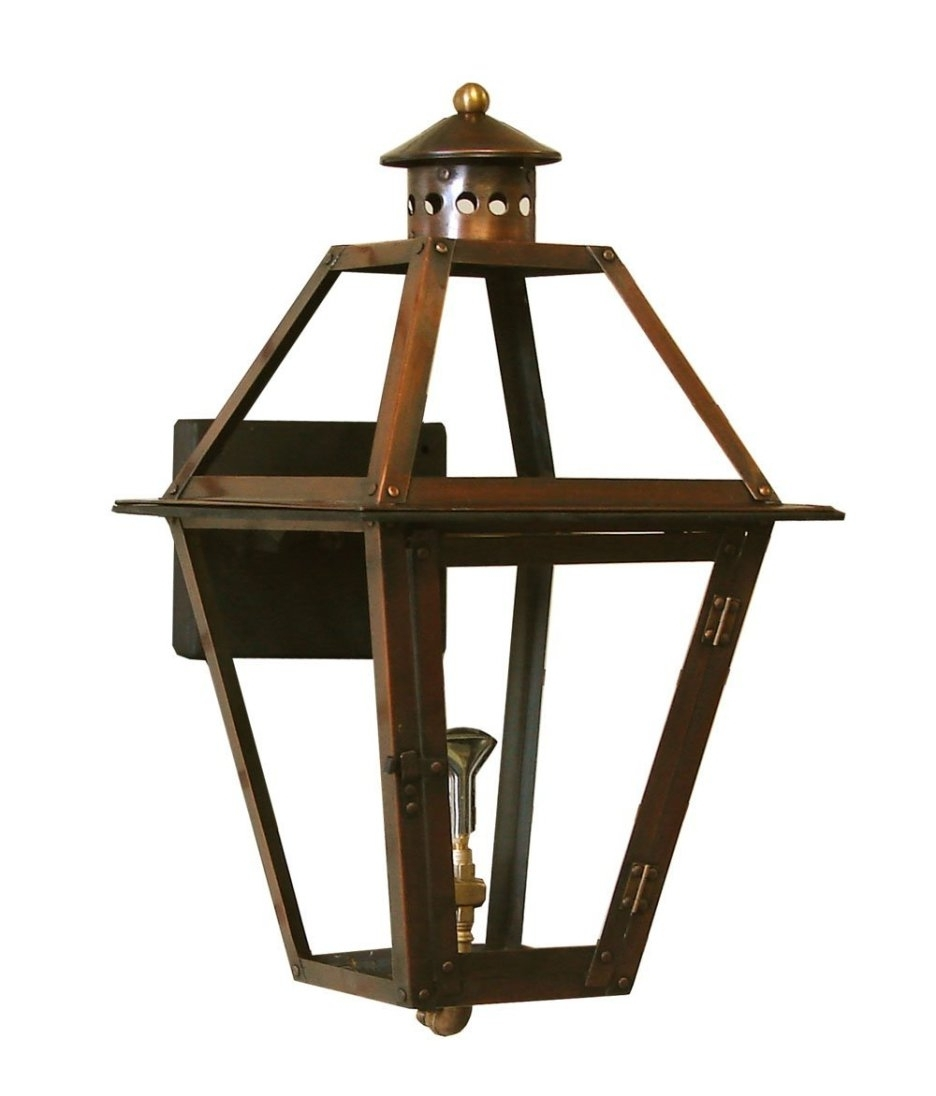 Accessories: Contemporary Wall Mounted Copper Frame Gas Torch For Newest Outdoor Wall Mount Gas Lights (View 1 of 20)
