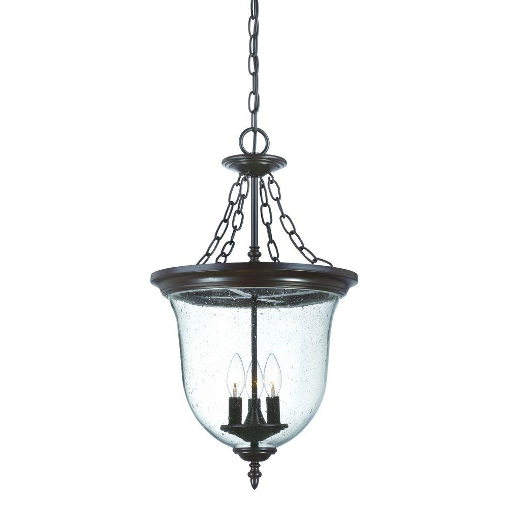 Acclaim Lighting Belle Collection 3 Light Architectural Bronze Pertaining To Preferred Outdoor Hanging Lamps Online (View 7 of 20)