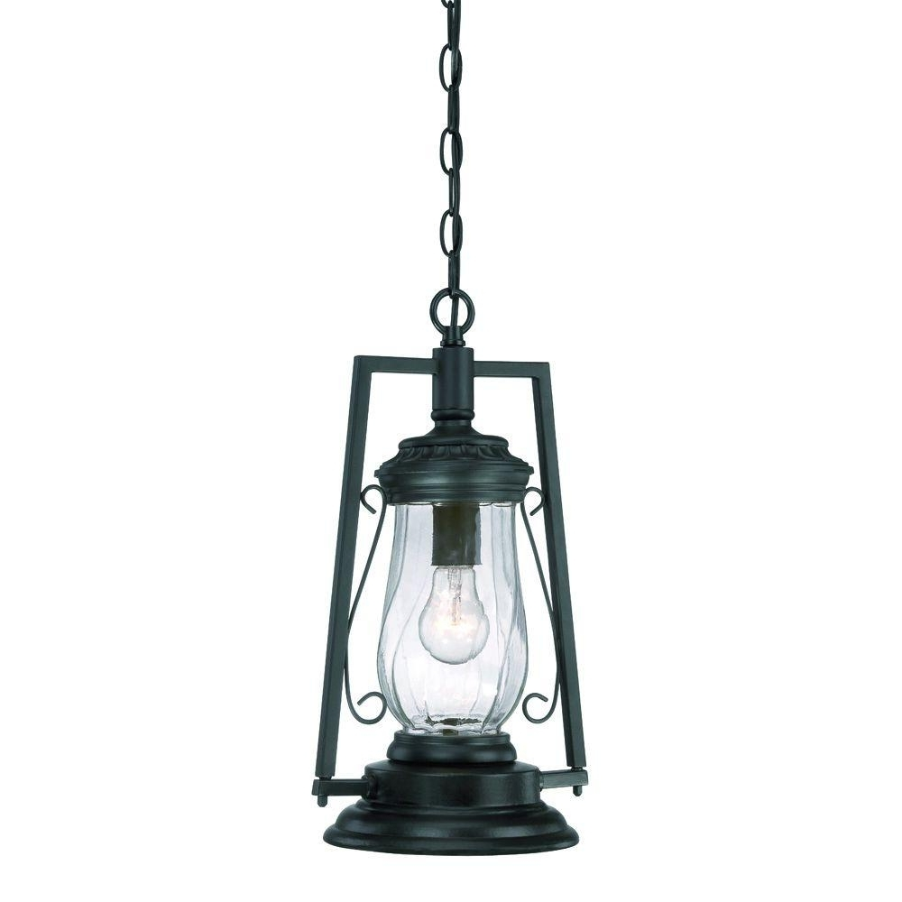 Acclaim Lighting Kero Collection 1 Light Matte Black Outdoor Hanging Within 2018 Outdoor Hanging Lantern Lights (Gallery 4 of 20)