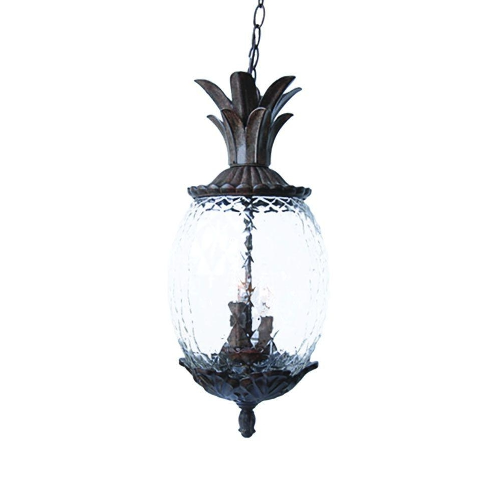 Acclaim Lighting Lanai Collection 3 Light Black Coral Outdoor Pertaining To Current Outdoor Hanging Light Fixtures In Black (Gallery 15 of 20)