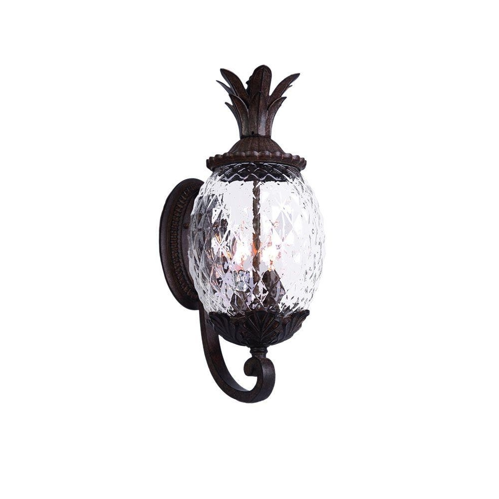 Acclaim Lighting Lanai Collection 3 Light Black Coral Outdoor Wall In Well Known Pineapple Outdoor Wall Lights (View 10 of 20)