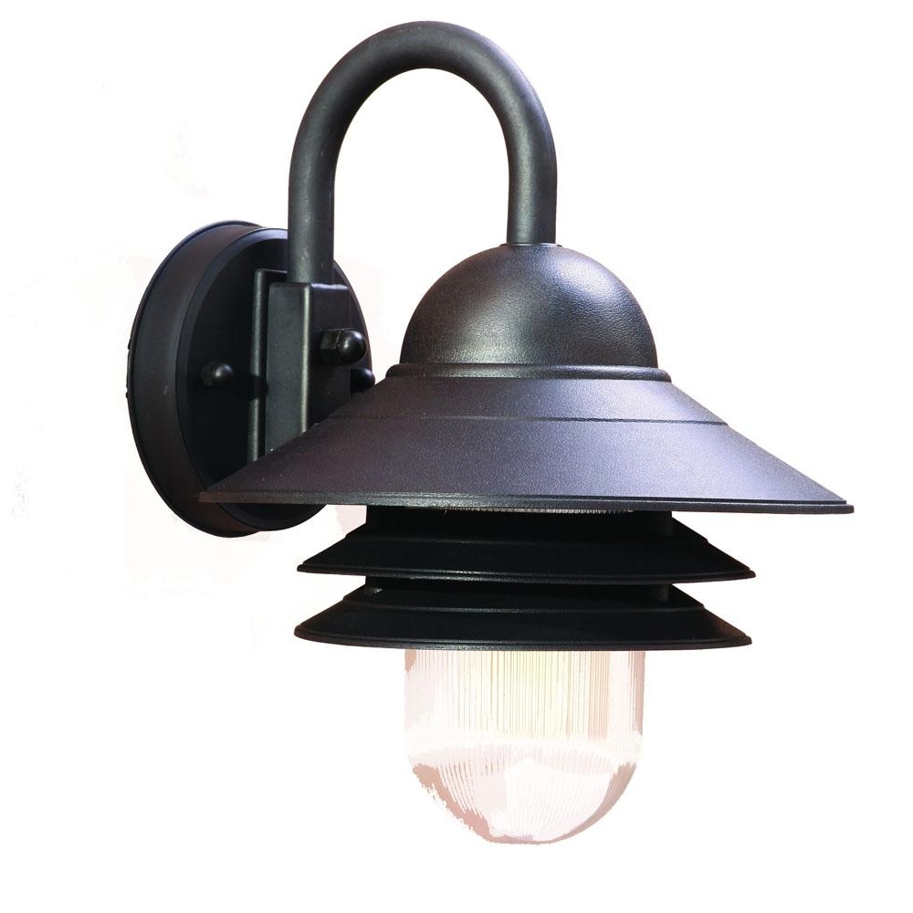 Acclaim Lighting Outdoor Wall Lights Within Recent Mariner Collection Wall Mount 1 Light Outdoor Matte Black Light (View 4 of 20)