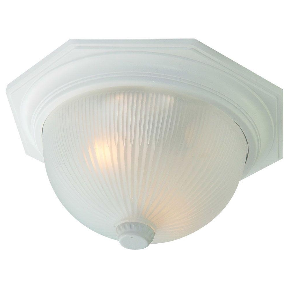 Acclaim Lighting Outer Banks Collection 2 Light Textured White Pertaining To Well Known White Outdoor Ceiling Lights (View 3 of 20)