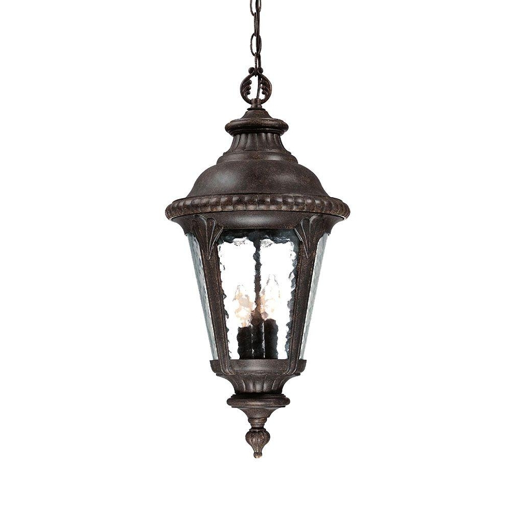 Acclaim Lighting Surrey Collection 3 Light Black Coral Outdoor With Famous Houzz Outdoor Hanging Lights (View 9 of 20)