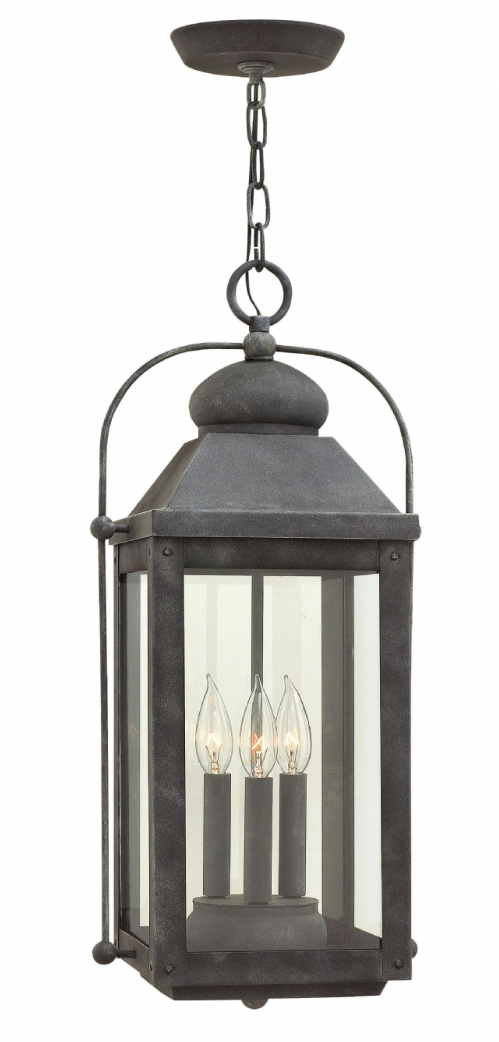 Aged Zinc Anchorage > Exterior Ceiling Mount Throughout Popular Hinkley Outdoor Hanging Lights (Gallery 8 of 20)