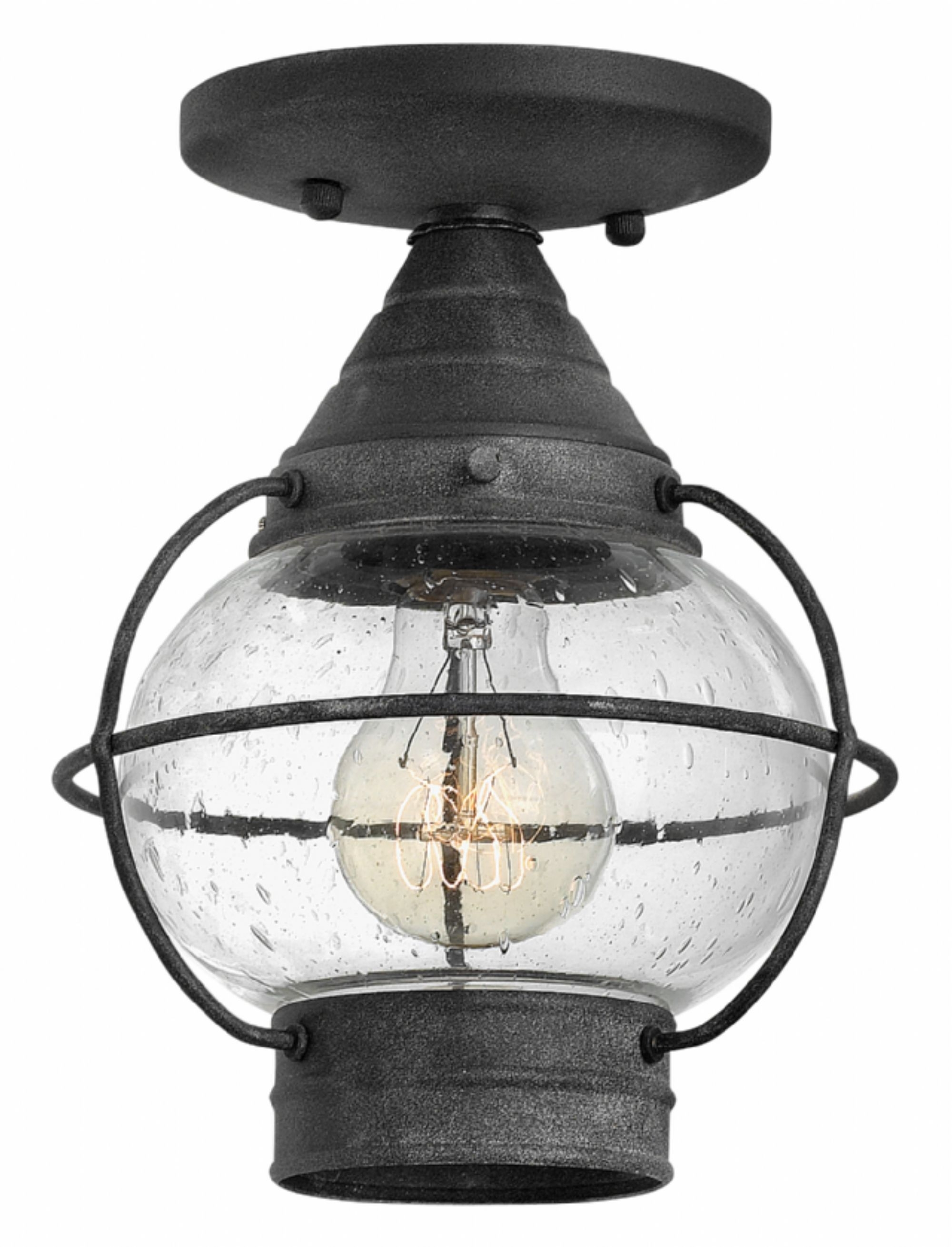 Aged Zinc Cape Cod > Exterior Ceiling Mount In Favorite Outdoor Semi Flush Ceiling Lights (View 2 of 20)