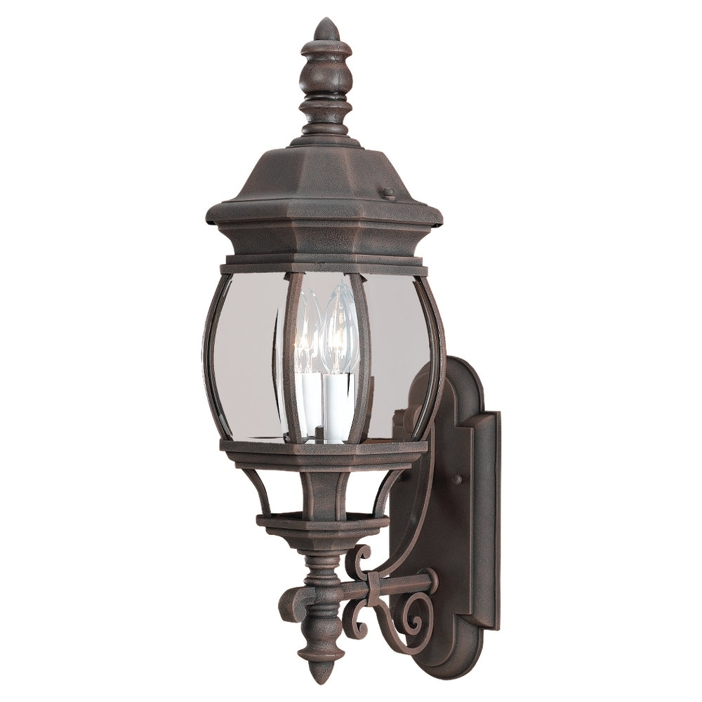 Aluminum Outdoor Wall Lighting Throughout 2019 88201 821,two Light Outdoor Wall Lantern,tawny Bronze (View 6 of 20)