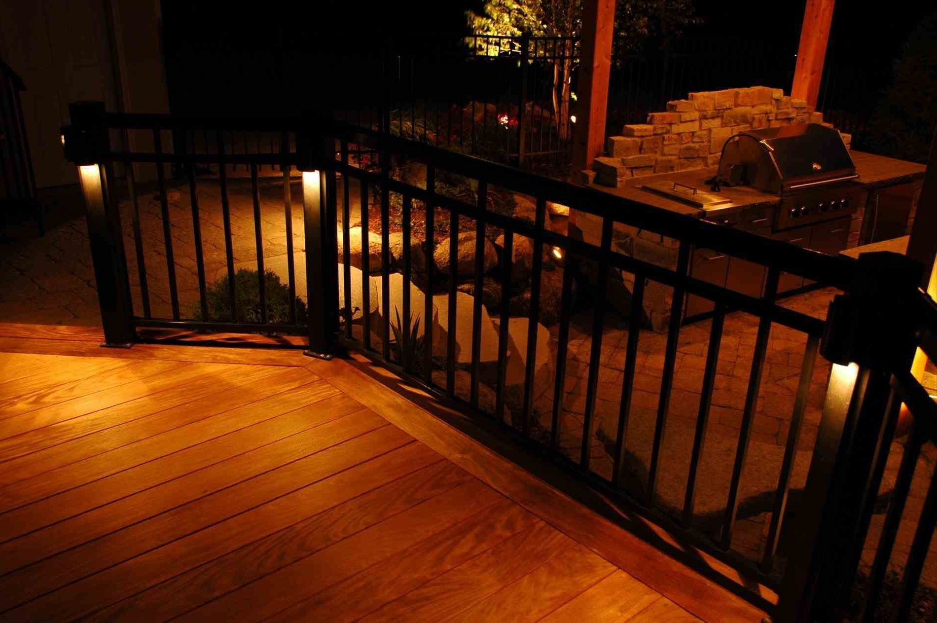 Amazing Landscapings Outdoor Low Fence Lighting Voltage Deck For In Most Up To Date Modern Low Voltage Deck Lighting (Gallery 18 of 20)