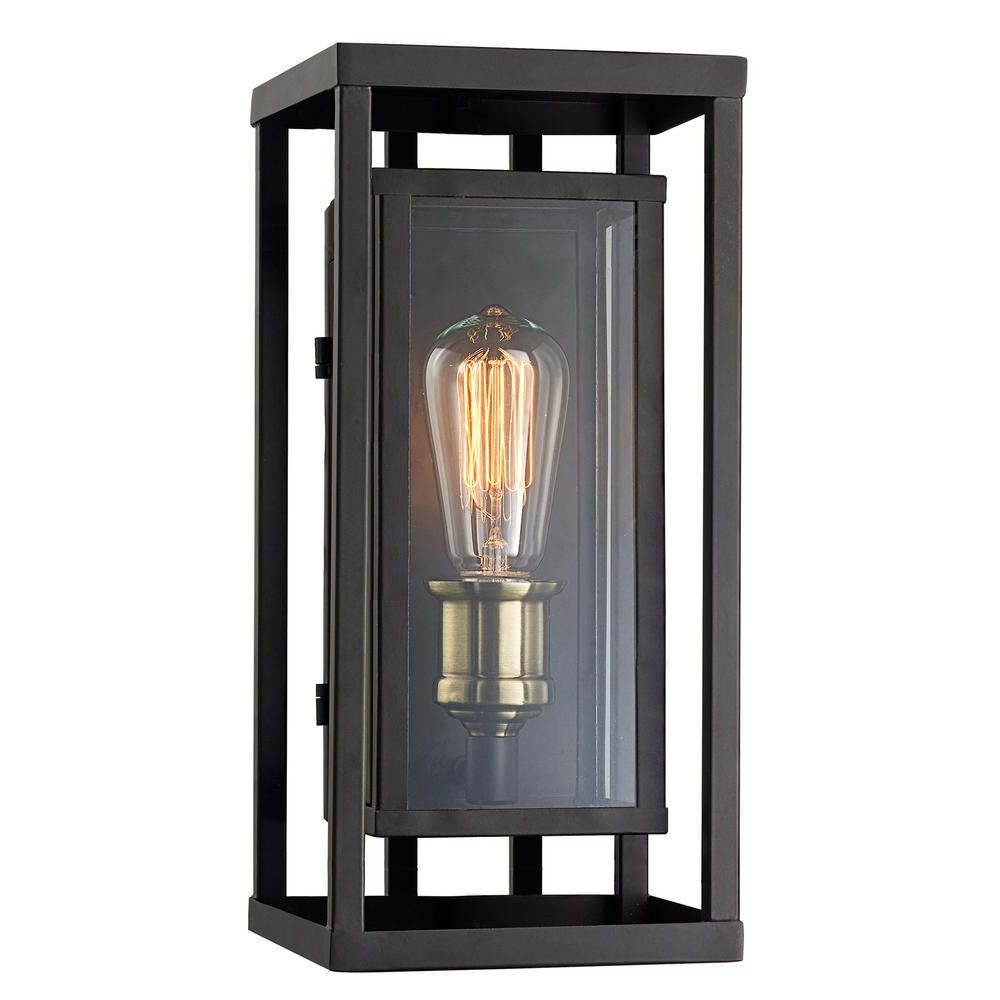 Antique Brass Outdoor Lighting With Latest Monteaux Lighting Retro 1 Light Oil Rubbed Bronze And Antique Brass (View 18 of 20)