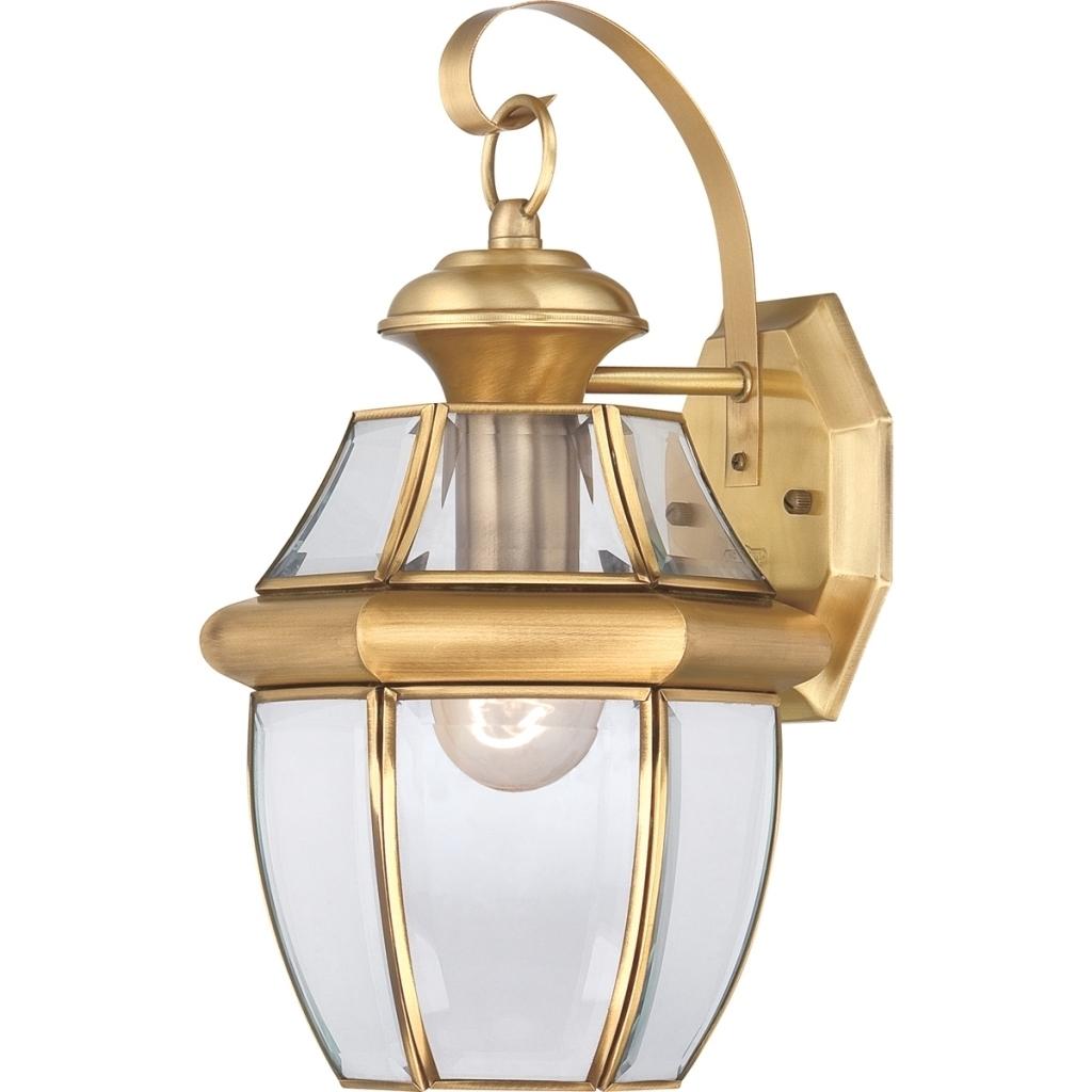 Antique Brass Outdoor Lighting (View 2 of 20)