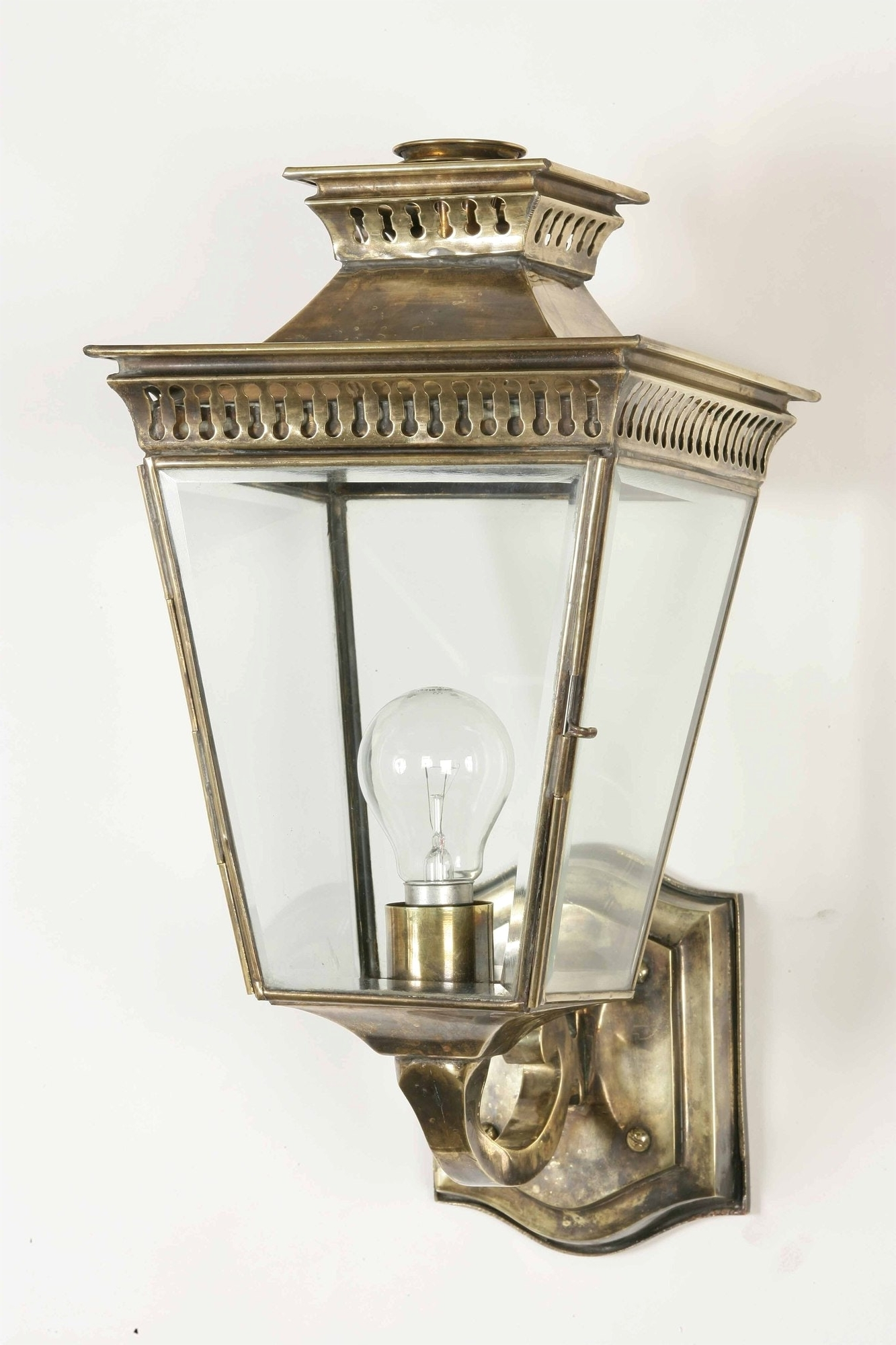 Antique Outdoor Wall Lighting Within Favorite Antique Outside Wall Light And Shop Portfolio 12 In Brass Outdoor At (View 8 of 20)