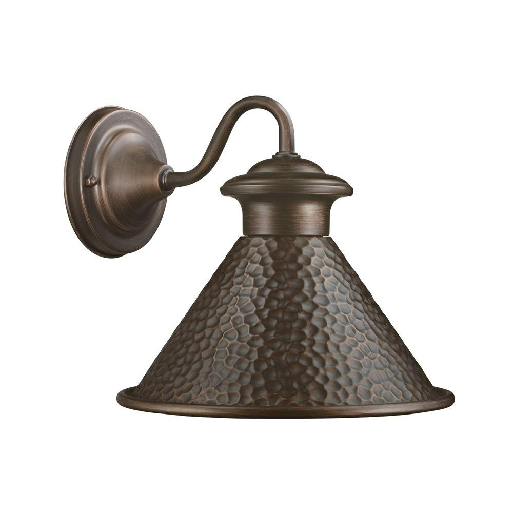 Antique Outdoor Wall Lighting Within Most Current Home Decorators Collection Essen 1 Light Antique Copper Outdoor Wall (View 9 of 20)