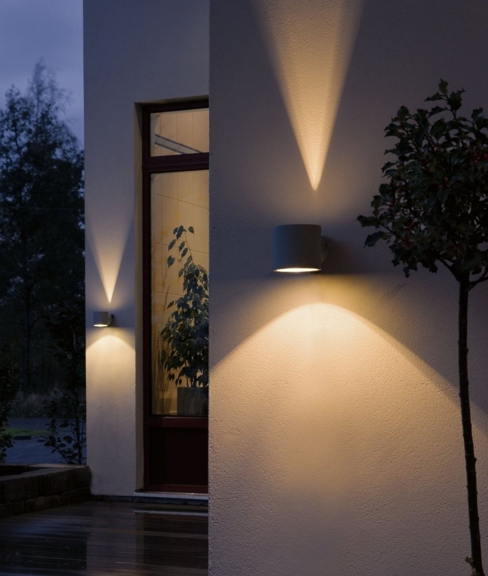 Architectural Outdoor Wall Lighting For Best And Newest Outdoor Lighting Effects. Outdoor Lighting Effects E – Socopi.co (Gallery 13 of 20)