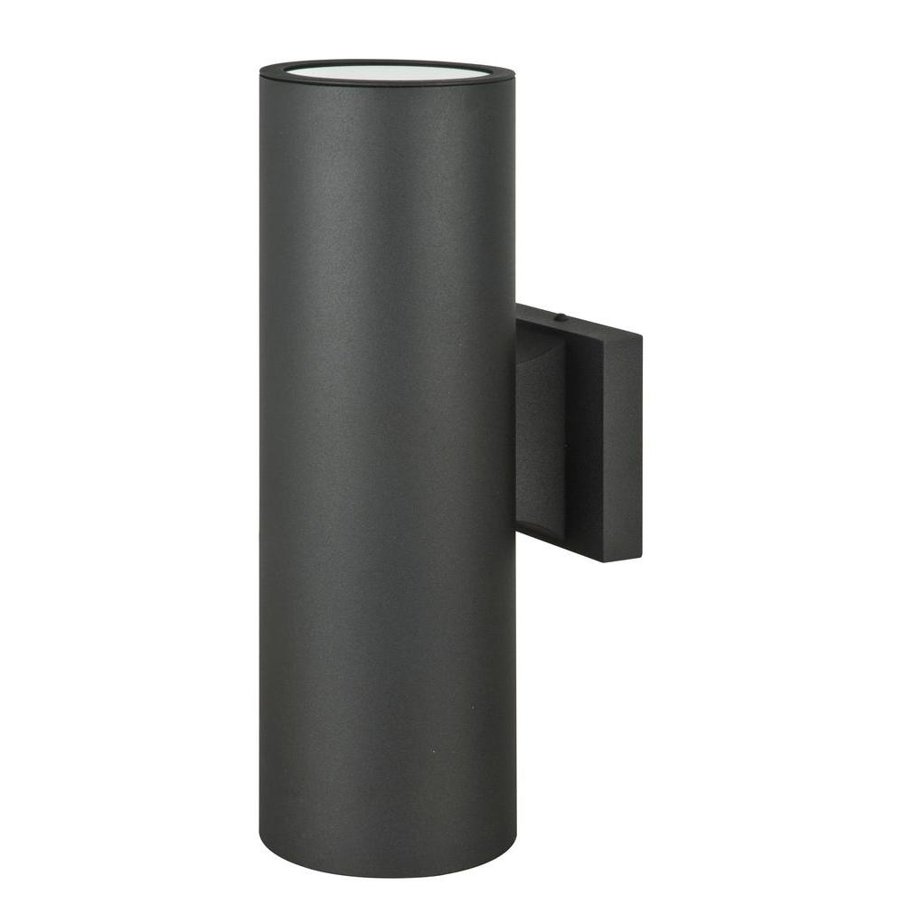 Architectural Outdoor Wall Lighting Throughout Most Current Luminance Architectural Exterior 2 Light Black Wall Sconce F6902  (View 7 of 20)