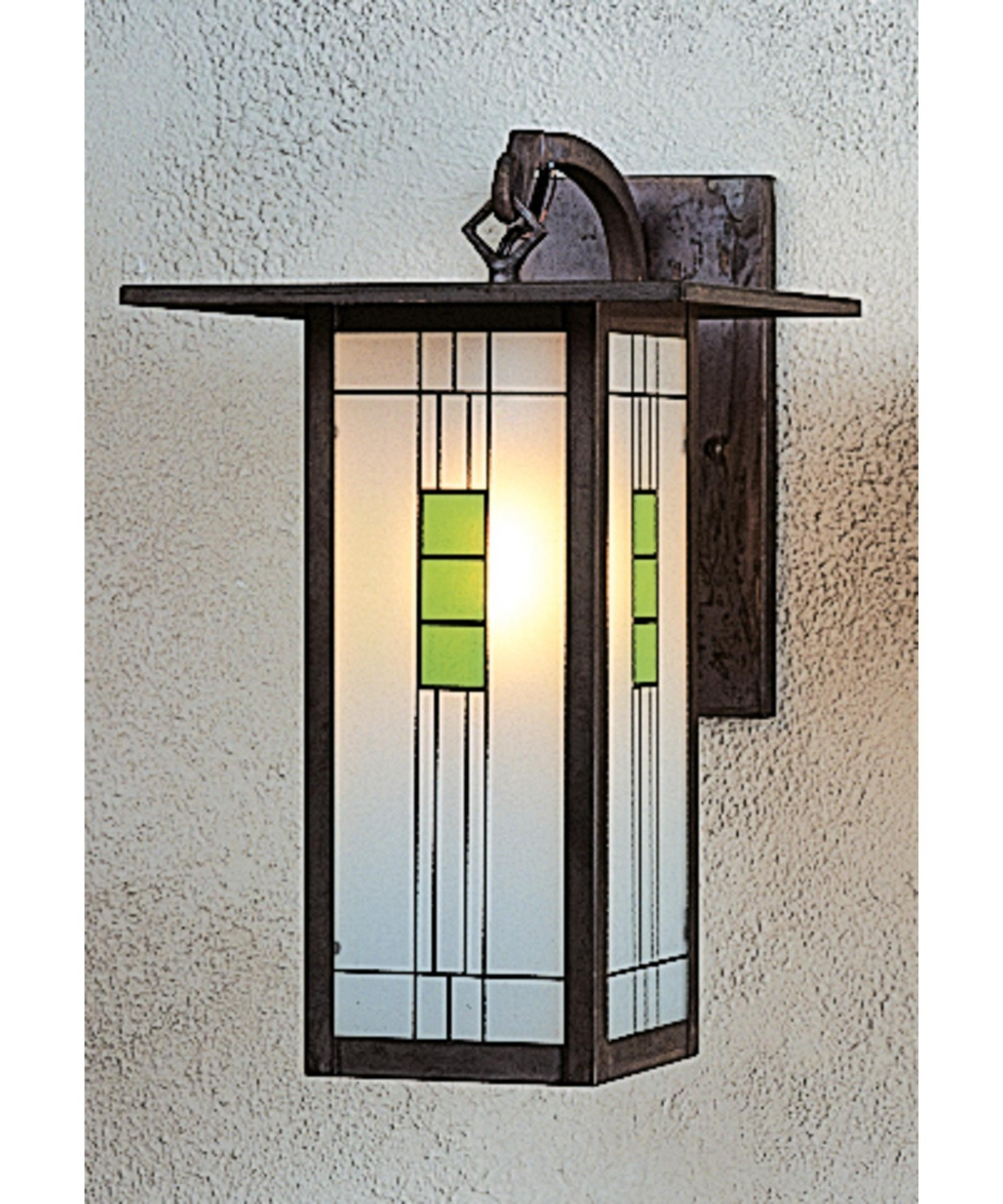 Arroyo Craftsman Fb 9L Franklin 9 Inch Wide 1 Light Outdoor Wall For Fashionable Green Outdoor Wall Lights (View 2 of 20)