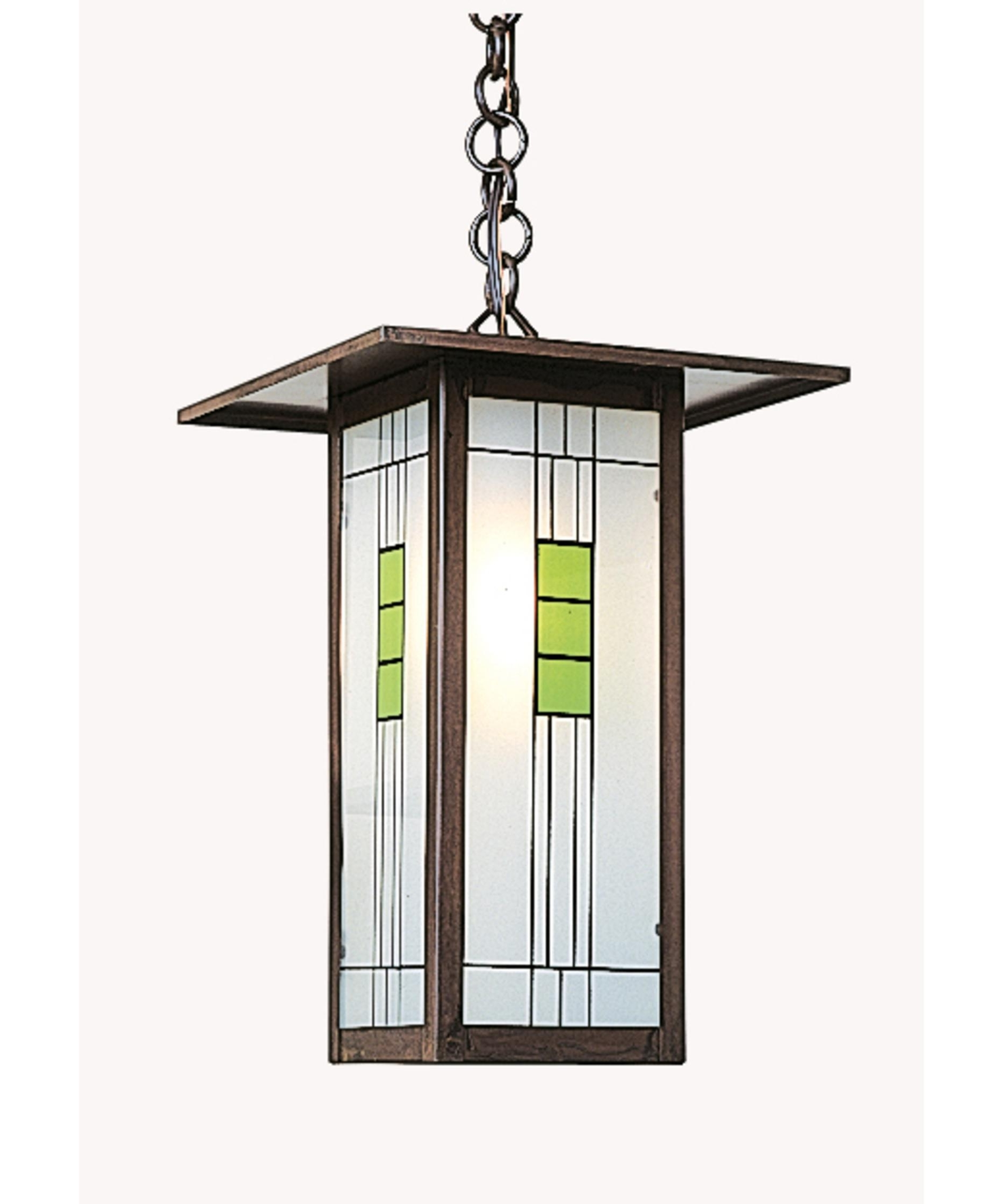 Arroyo Craftsman Fh 9l Franklin 9 Inch Wide 1 Light Outdoor Hanging In Current Craftsman Outdoor Ceiling Lights (View 3 of 20)