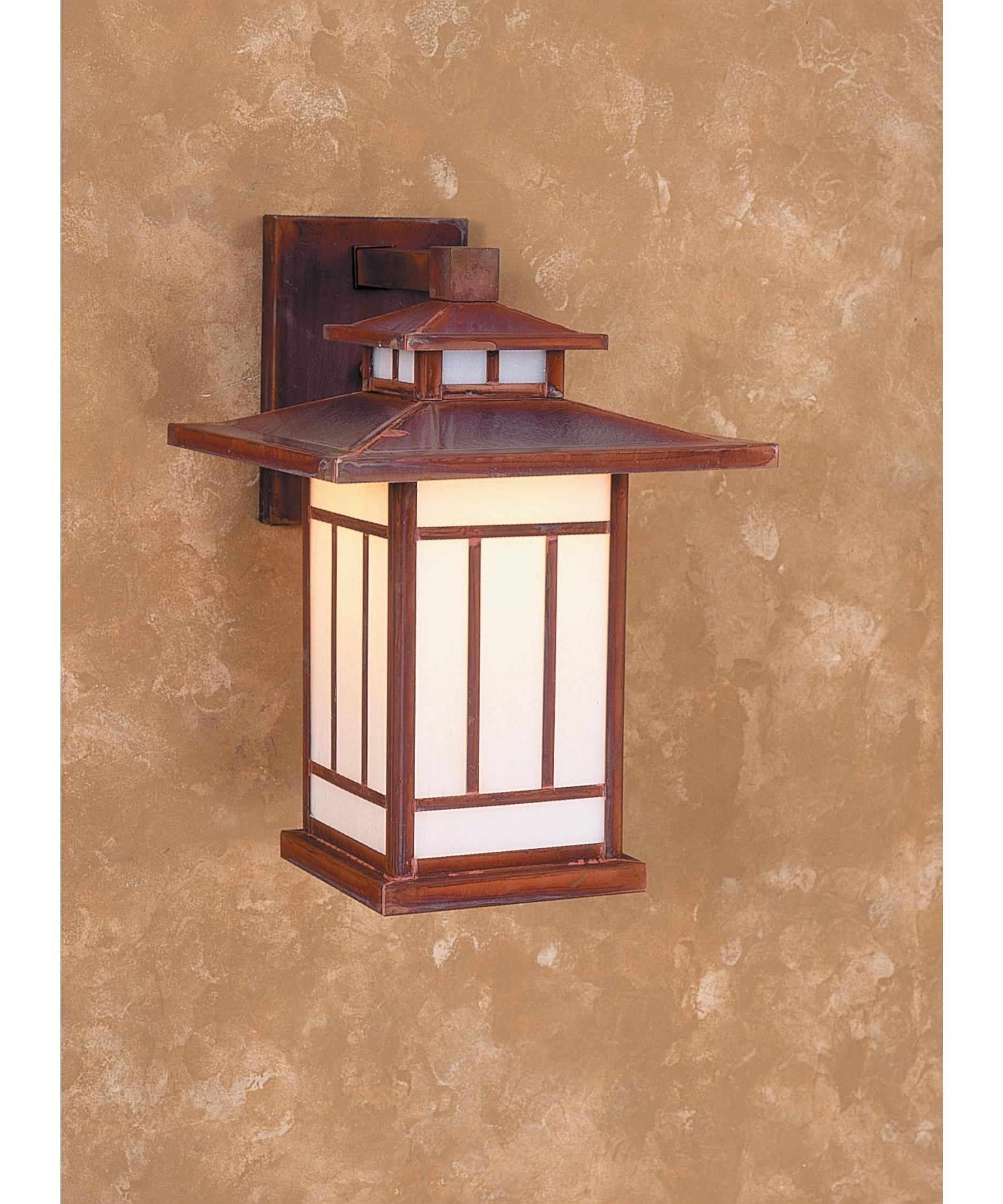 Arroyo Craftsman Kennebec Shown In Raw Copper Finish And White Regarding Most Recently Released Made In Usa Outdoor Wall Lighting (Gallery 8 of 20)