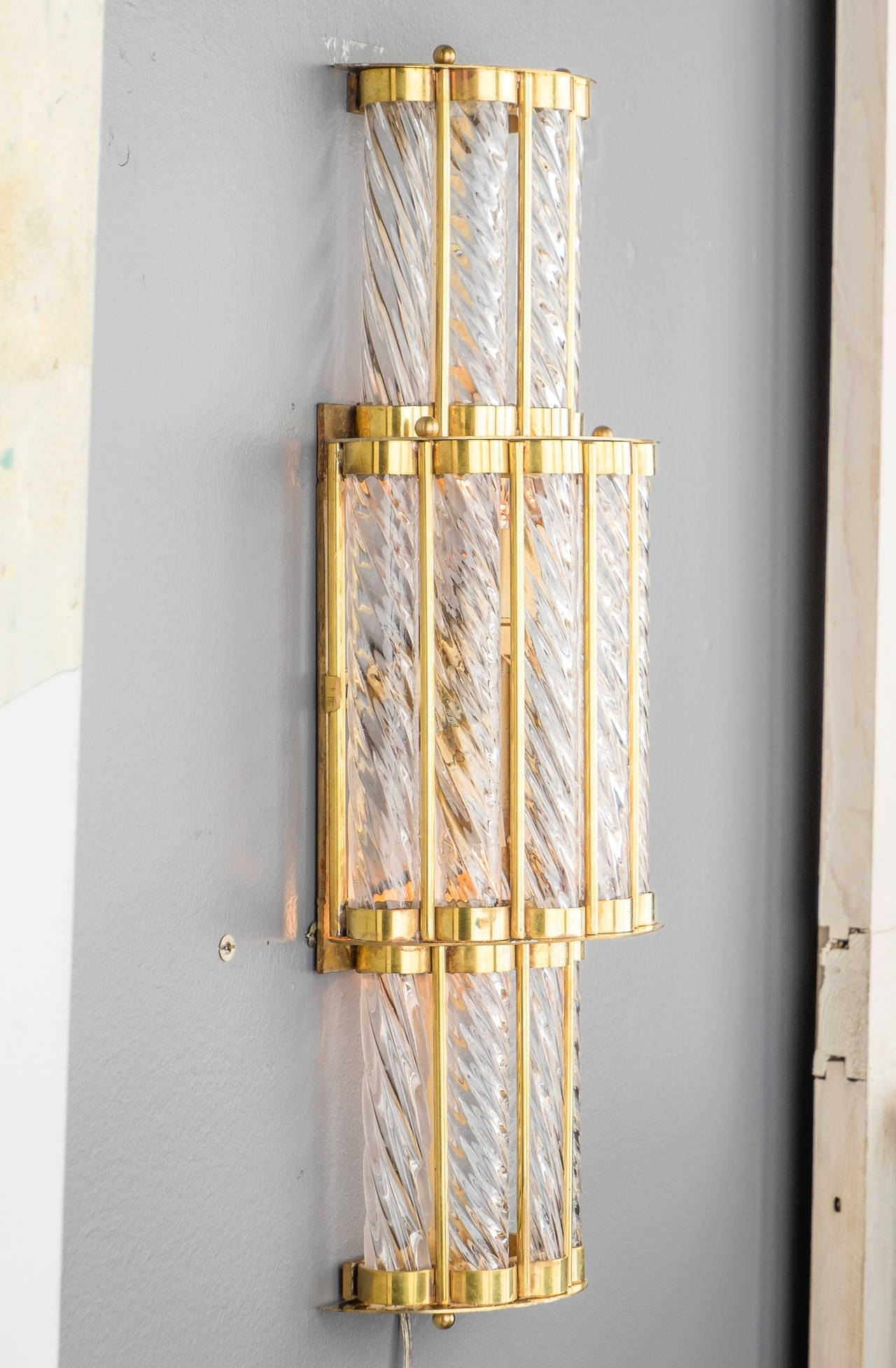 Art Deco Outdoor Wall Lights Within Famous Art Deco Style Murano Wall Sconces At 1stdibs (View 9 of 20)