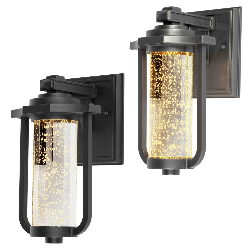 "Artcraft Ac9011 North Star Traditional 11"" Tall Led Exterior Wall With Regard To Famous Outdoor Wall Lighting With Outlet (Gallery 11 of 20)"