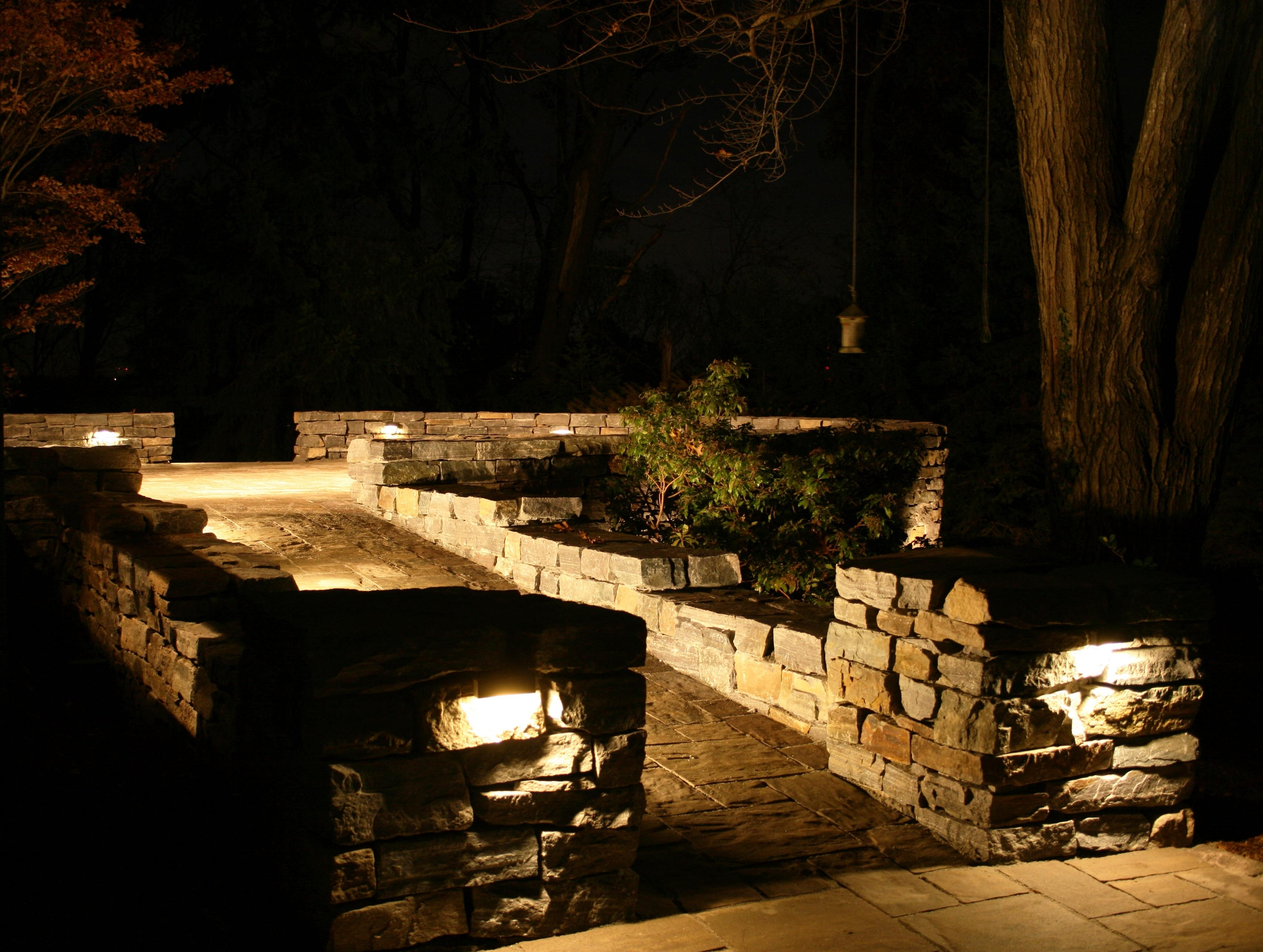 Artistic Landscapes Blog » 2014 » January Pertaining To Well Known Outdoor Stone Wall Lighting (View 3 of 20)