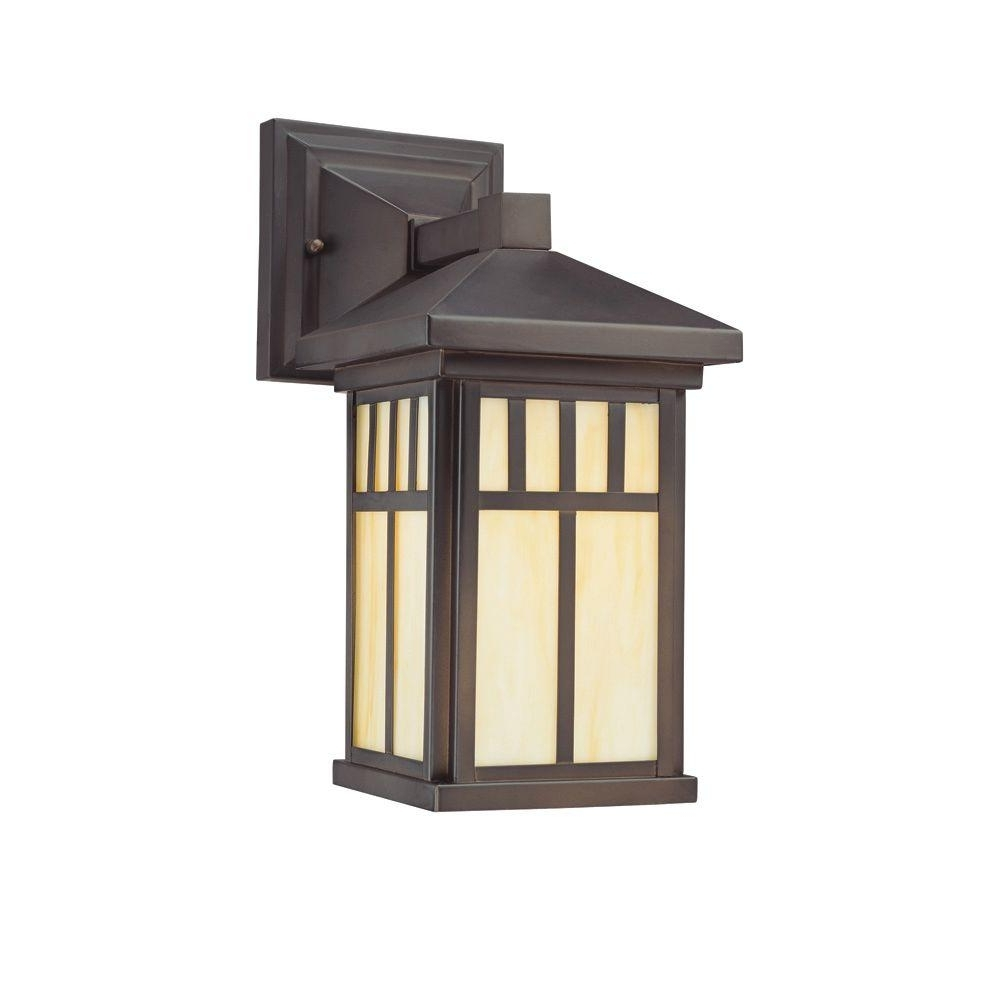 Arts And Crafts Outdoor Wall Lighting Throughout Most Up To Date Westinghouse Burnham Wall Mount 1 Light Outdoor Oil Rubbed Bronze (Gallery 4 of 20)