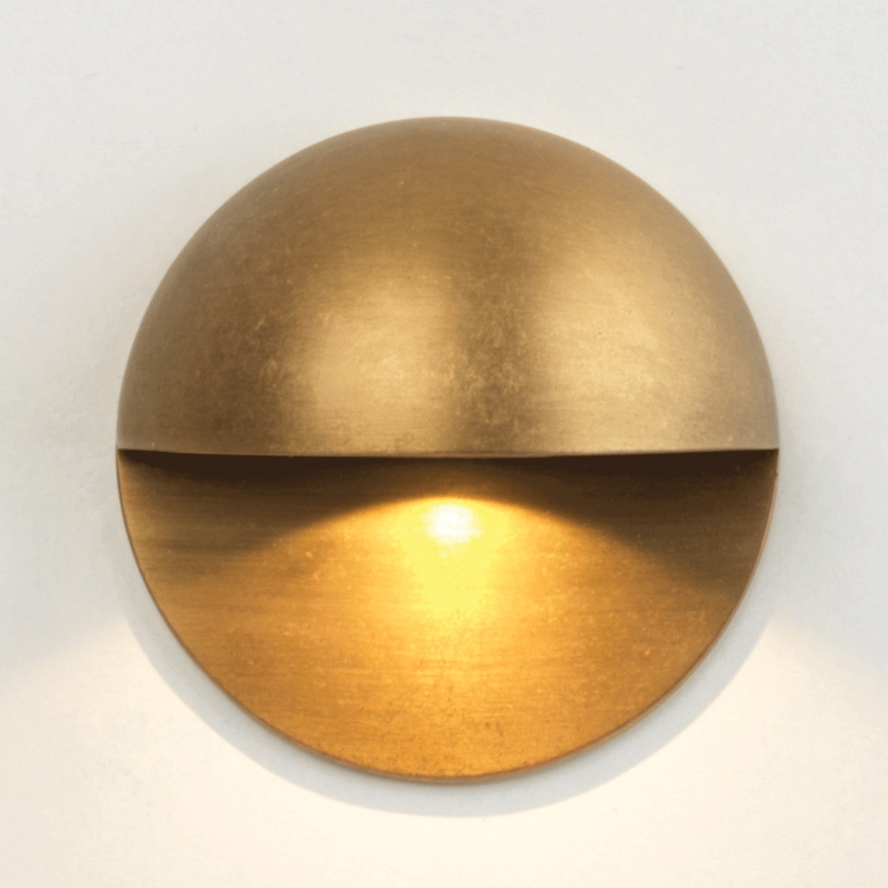Astro Lighting 7845 Tivoli Led Antique Brass Ip65 Exterior Wall Light Intended For 2019 Brass Outdoor Wall Lighting (View 1 of 20)