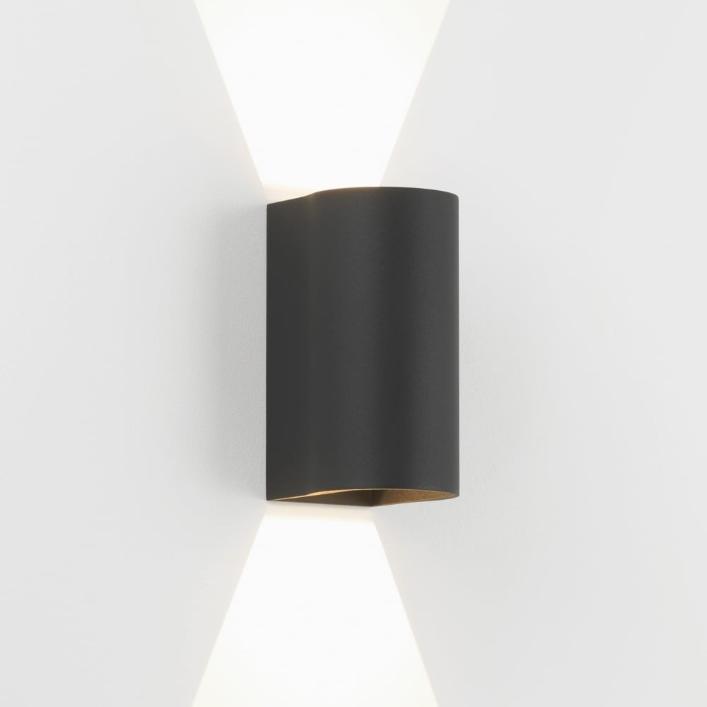Astro Lighting 7946 Dunbar 160 Led Up Down Exterior Wall Light Black Pertaining To 2018 Outdoor Up Down Wall Led Lights (View 2 of 20)