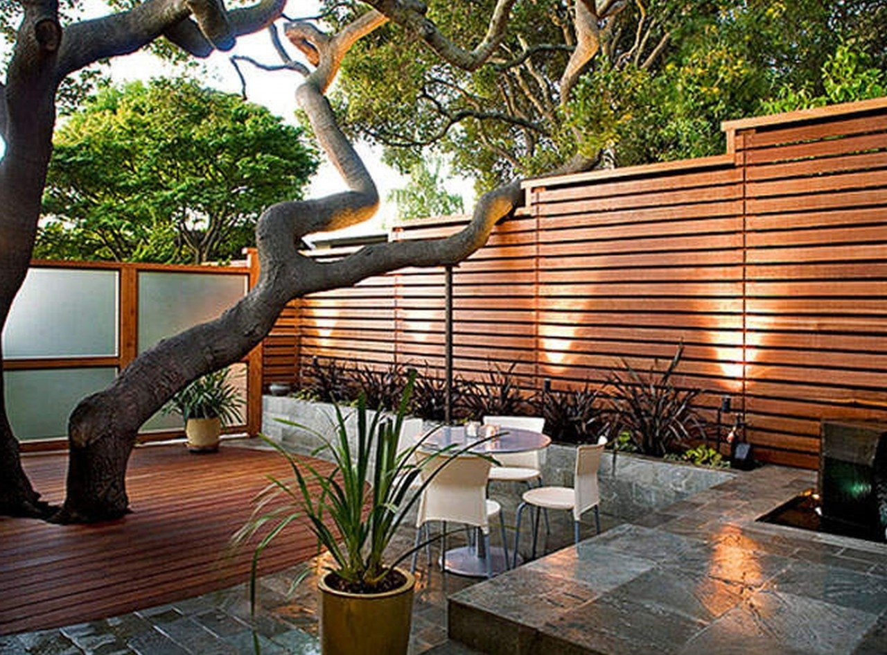 Attractive Landscaping Ideas For Small Backyards Combination Foxy For Popular Rustic Outdoor Lighting For Modern Garden (Gallery 3 of 20)