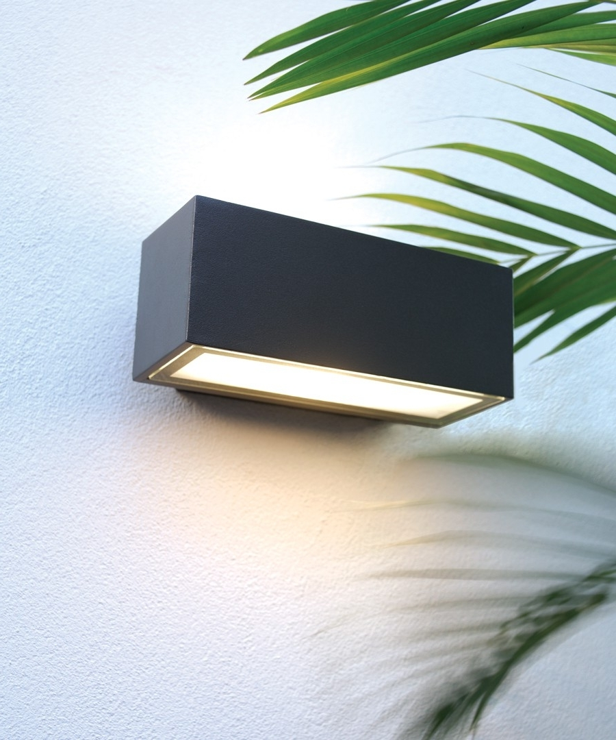 Beacon Lighting Outdoor Wall Lights Throughout Favorite Pilot 1 Light Exterior Wall Bracket In Charcoal,lighting,beacon Lighting (View 20 of 20)