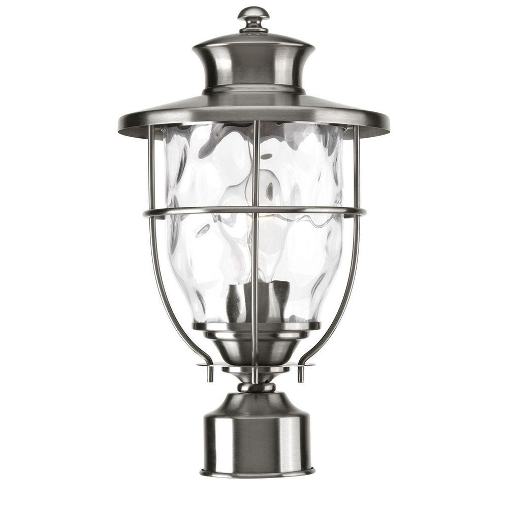 Beacon Outdoor Ceiling Lights Intended For Recent Progress Lighting Beacon Collection Outdoor Stainless Steel Post (View 6 of 20)