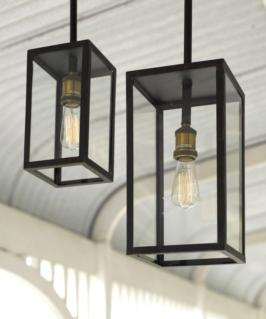 Beacon Outdoor Ceiling Lights Pertaining To Popular Southampton 1 Light Small Exterior Pendant In Antique Black (View 7 of 20)