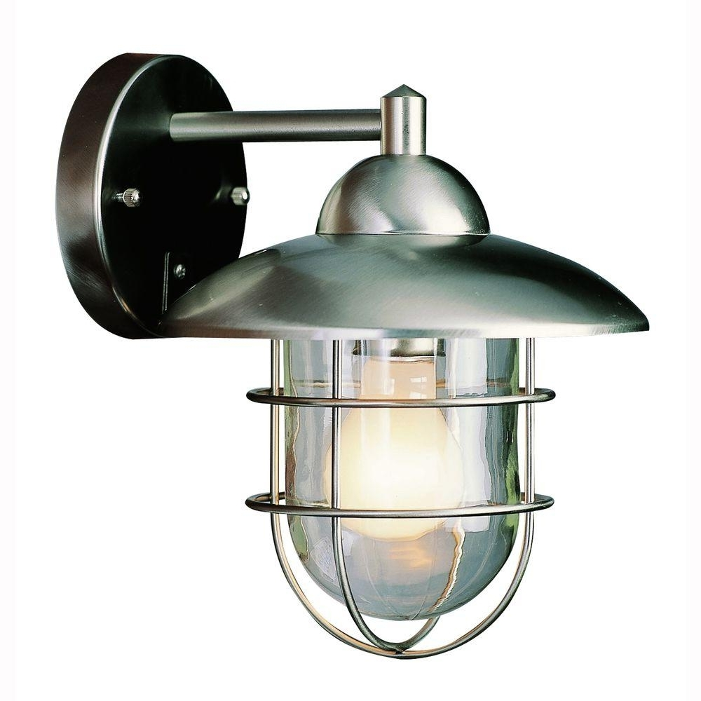 Bel Air Lighting 1 Light Stainless Steel Wire Frame Outdoor Coach In Most Recent Stainless Steel Outdoor Ceiling Lights (View 1 of 20)
