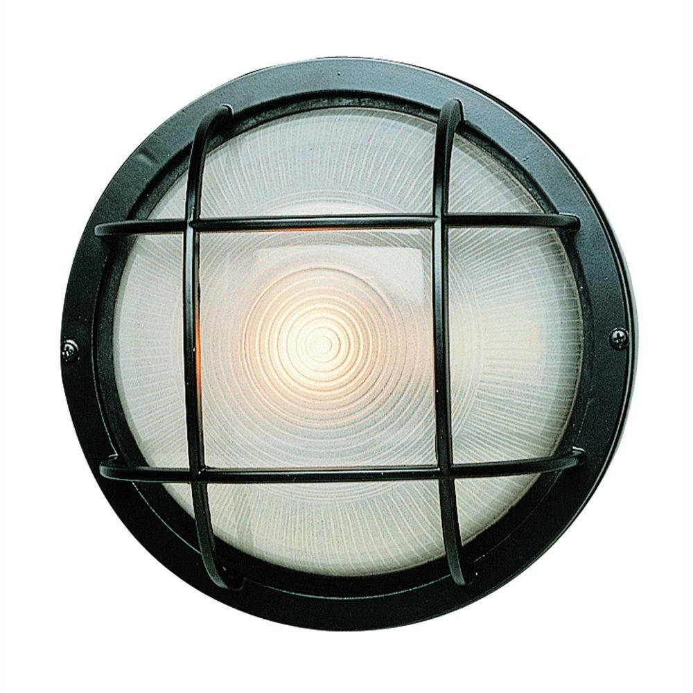Bel Air Lighting Bulkhead 1 Light Black Outdoor Wall Or Ceiling In Newest Outdoor Ceiling Bulkhead Lights (View 9 of 20)