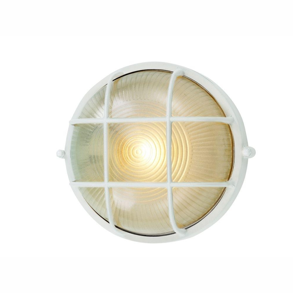 Bel Air Lighting Energy Saving Bulkhead 1 Light Outdoor White Wall With Regard To Best And Newest Outdoor Ceiling Bulkhead Lights (View 5 of 20)