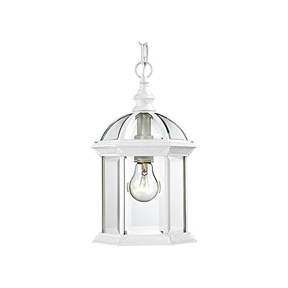 Bel Air Lighting Wentworth White 1 Light Outdoor Hanging Lantern With Regard To Favorite White Outdoor Hanging Lights (Gallery 4 of 20)