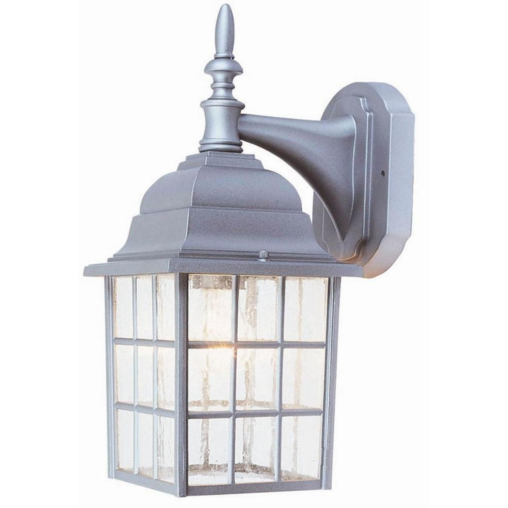 Best And Newest Aluminum Outdoor Wall Lighting Inside Design House Earl Grey Sanded Aluminum Outdoor Wall Mount Downlight (View 11 of 20)