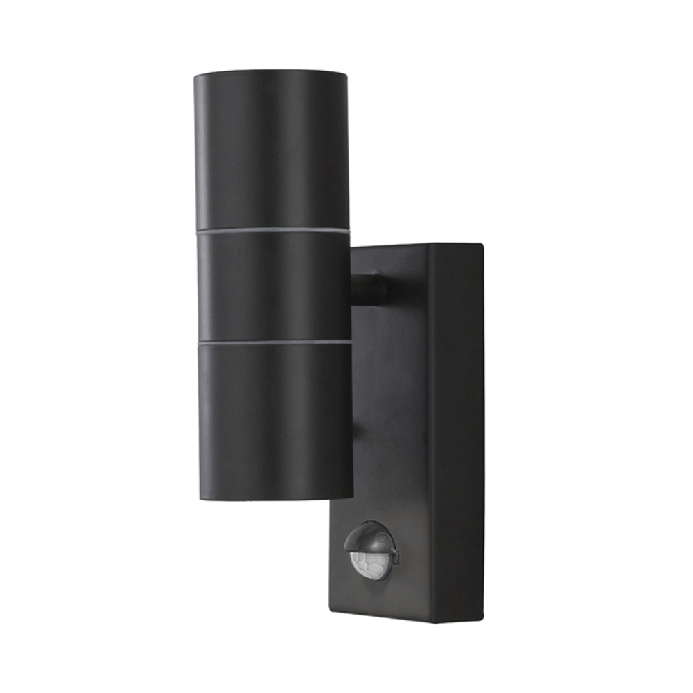 Best And Newest Buy Searchlight 7008 2bk Outdoor Wall Light With Motion Sensor In Black Pertaining To Outdoor Wall Lighting With Motion Sensor (View 20 of 20)