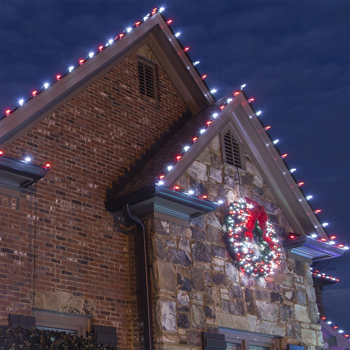 Best And Newest Hanging Outdoor Lights On Brick With Christmas Lights (Gallery 20 of 20)