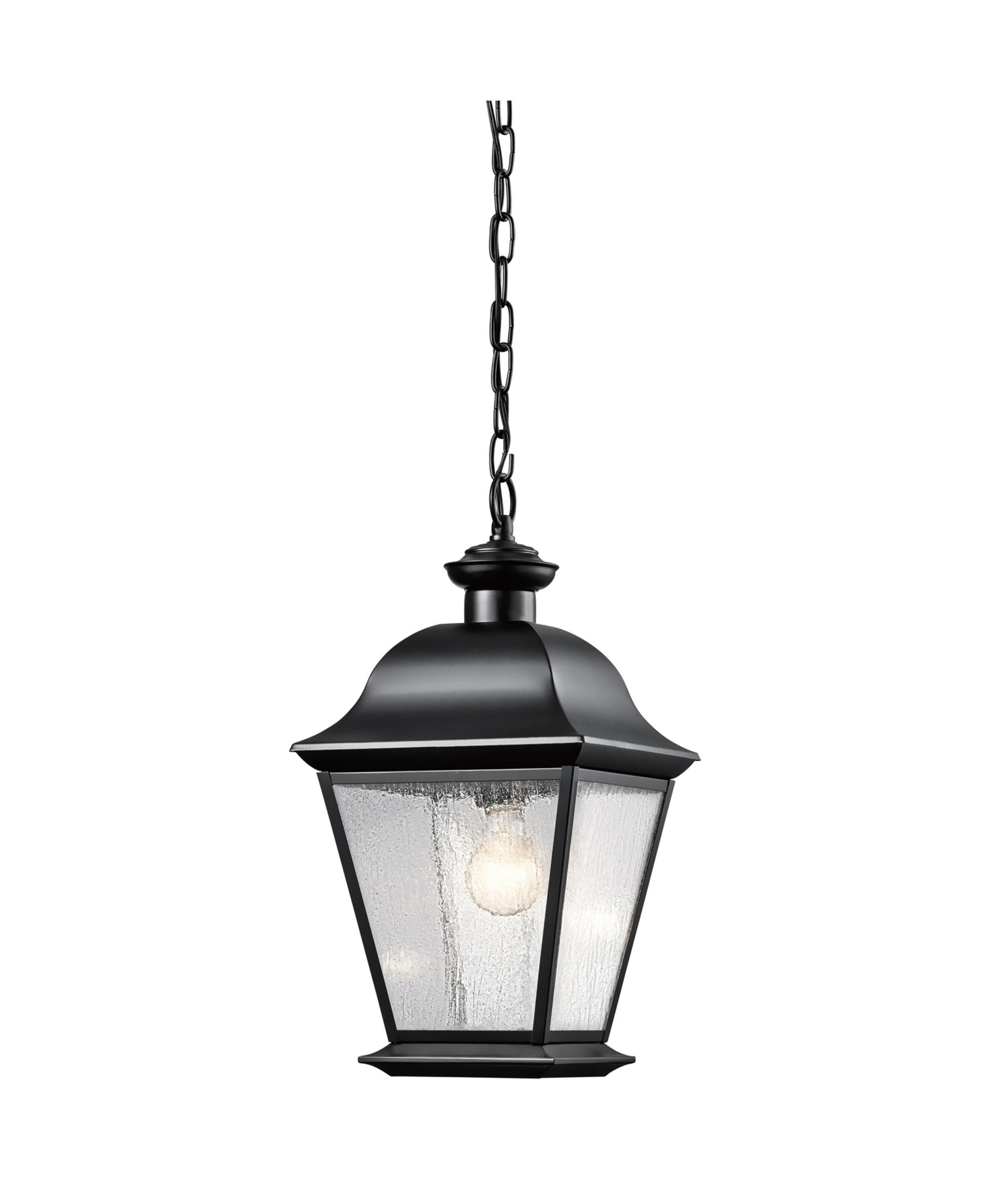 Best And Newest Kichler 9809 Mount Vernon 10 Inch Wide 1 Light Outdoor Hanging Intended For Outdoor Hanging Light In Black (View 2 of 20)