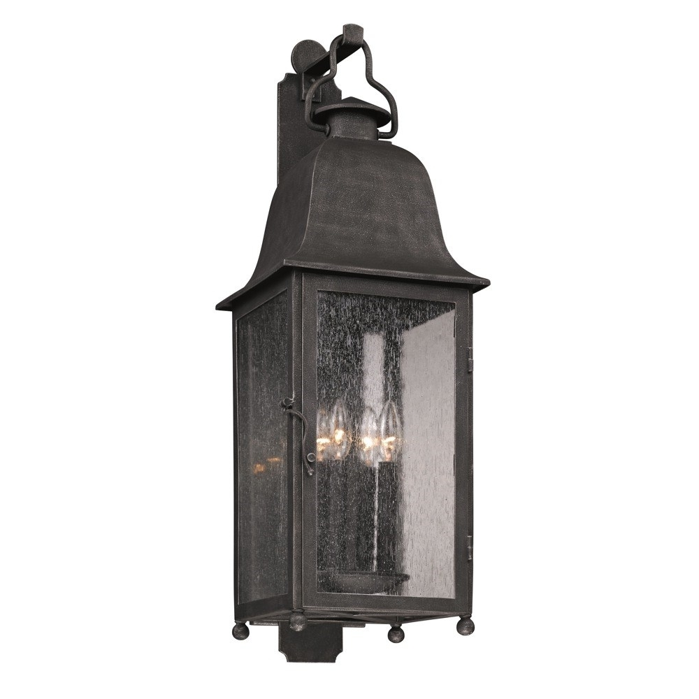 Best And Newest Large Outdoor Wall Light Fixtures Throughout Troy B3213 Larchmont Large 4 Light Incandescent Outdoor Wall Sconce (Gallery 10 of 20)